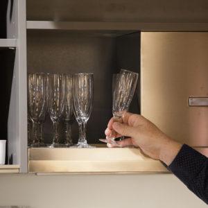 Détail rangement espace cuisine