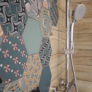 Détail carrelage salle de bain