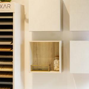 Décoration salle de bain cube de rangement
